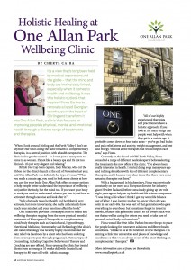 Article in  Scottish Woman Magazine